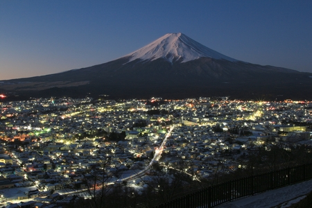 mt: Mt. Fuji and night view Stock Photo