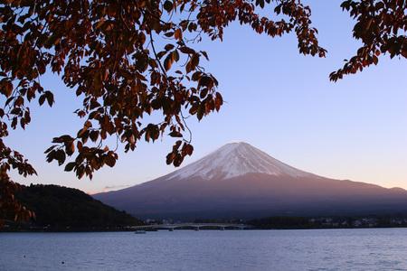 mt: Mt. Fuji and Lake Kawaguchi Stock Photo