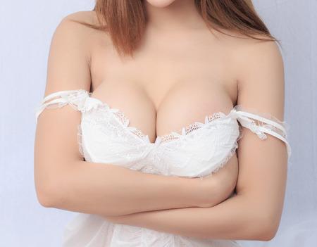 asia nude: Beautiful slim body of woman in studio