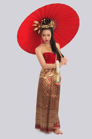 thai decor: Thai Woman In Traditional Costume