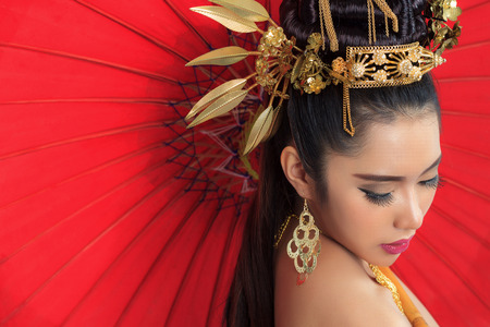 Thai Woman In Traditional Costume photo