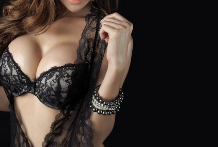 Beautiful delgado cuerpo de mujer en estudio Foto de archivo