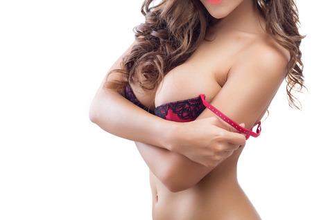 cuerpos desnudos: Beautiful delgado cuerpo de mujer en estudio Foto de archivo