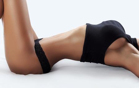 Hermosa modelo de fitness femenino - tiro del estudio Foto de archivo