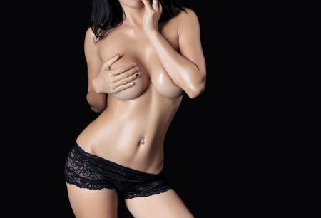 modelos desnudas: Cuerpo de mujer sexy - tiro del estudio
