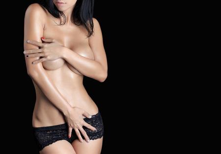 beaux seins: Corps de femme sexy - tourn� en studio