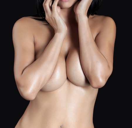 nude women: Sexy woman body - studio shot Stock Photo