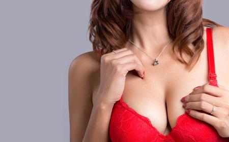 big boobs: Mujer atractiva hermosa joven asiática con la lencería elegante - tiro del estudio