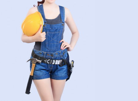 chinese sex: Sexy asian female construction worker
