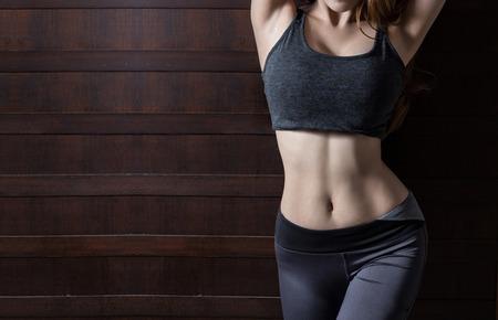 nude woman sexy: Beautiful slim woman body