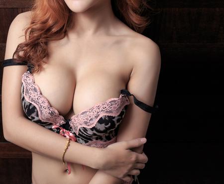 nude woman: Beautiful slim body of woman Stock Photo
