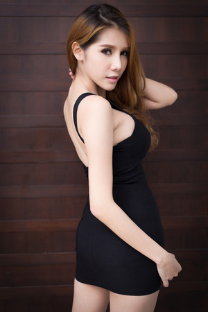 Young beautiful asian woman model 版權商用圖片