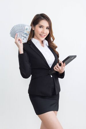 Beautiful  businesswoman working concept  isolated on white background 免版税图像