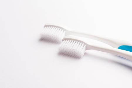 White toothbrush isolated on white background - studio shot 版權商用圖片