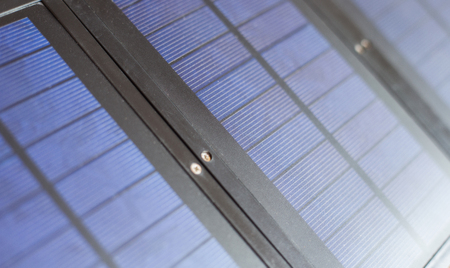 Close up Old Solar cell surface. 版權商用圖片