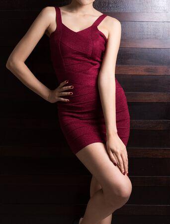 Hermoso cuerpo delgado de mujer asiática
