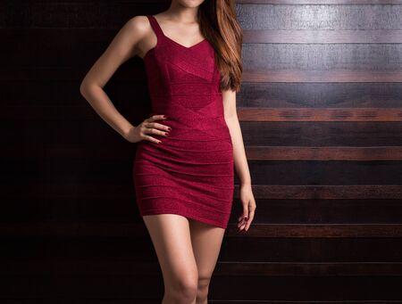 Beautiful slim body of asian woman