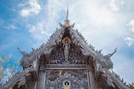 Silver shrine in Wat Srisuphan , Chiang Mai , Thailand