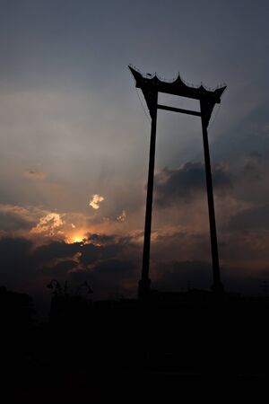 silhouette of Giant swing photo