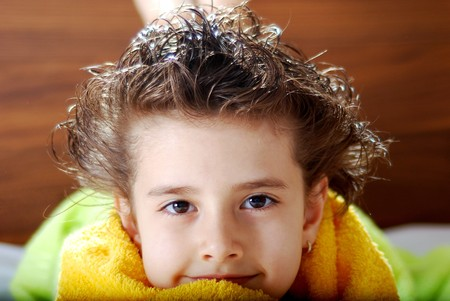 Kid with a towel Stock Photo - 3968050