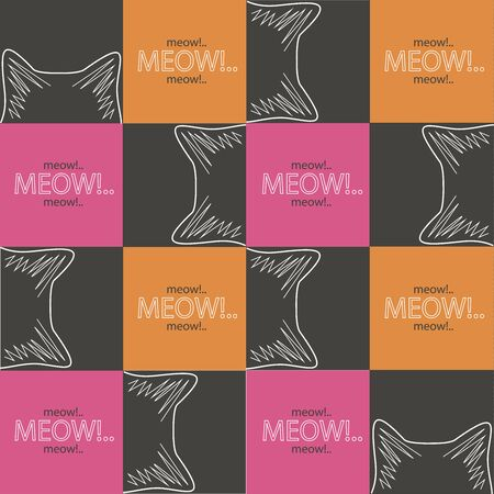 Meow background Vector illustration. Ilustração