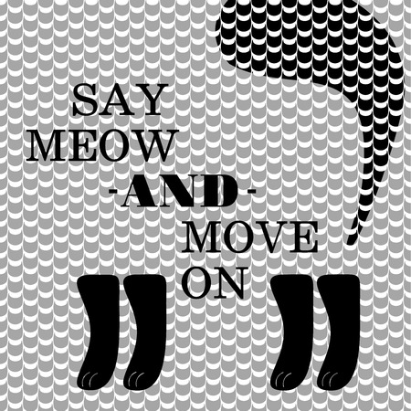 Say meow cat poster