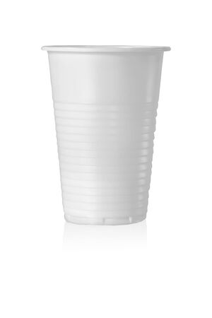 Plastic Cup. Isolated on White Background.