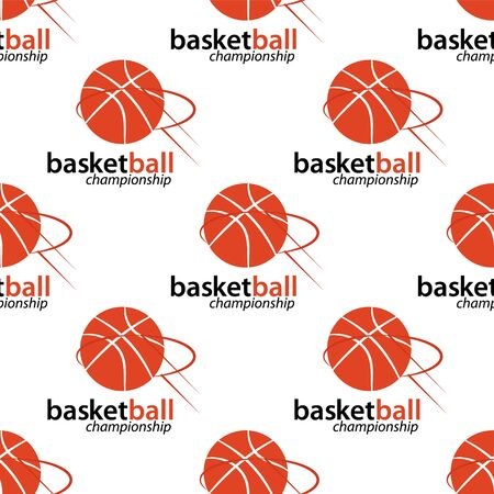 Basketball championship semless background. For poster and banner. Vector Illustration. Ilustracja