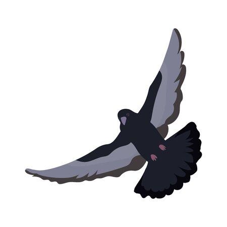 Dove Silhouette. Symbol of Peace, Love, Tolerance and Trust. Vector Illustration.