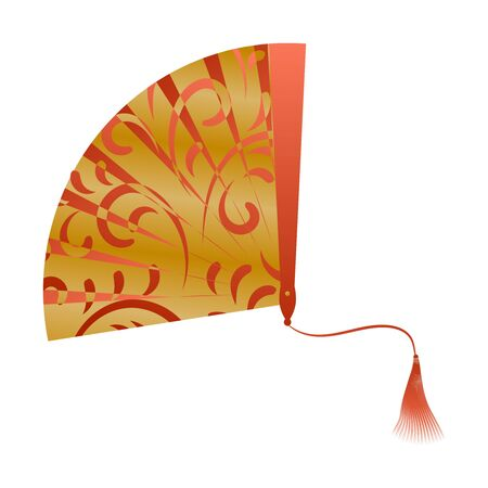 Fan Isolated on White Background. Vector Illustration. Stock Illustratie