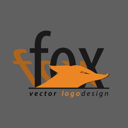 Fox. Icon with original text. Illusztráció