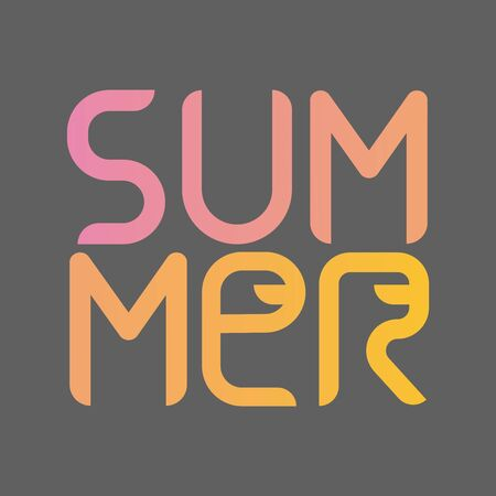 Summer Time holiday greeting card or poster. Vector Illustration.