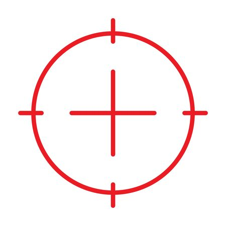 Target simple Flat Icon isolated on white background. Vector Illustration.