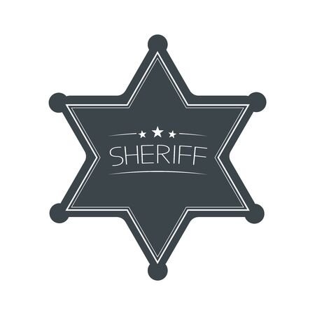 Sheriffs Star Isolated on White Background. Vector Illustration. Banque d'images - 150542097