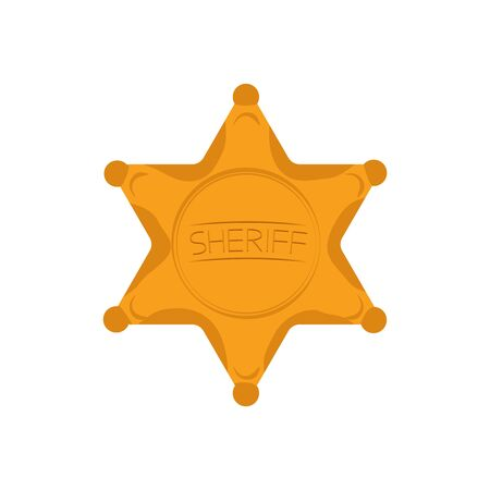 Sheriffs Star Isolated on White Background. Vector Illustration. Banque d'images - 150542354