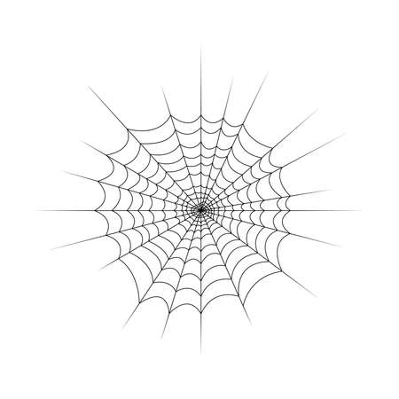 Black Web on white background. One of the Halloween symbols. Vector illustration.