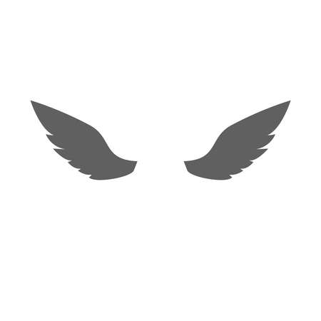 Wings Flat Icon on white background. Vector Illustration. Ilustracja
