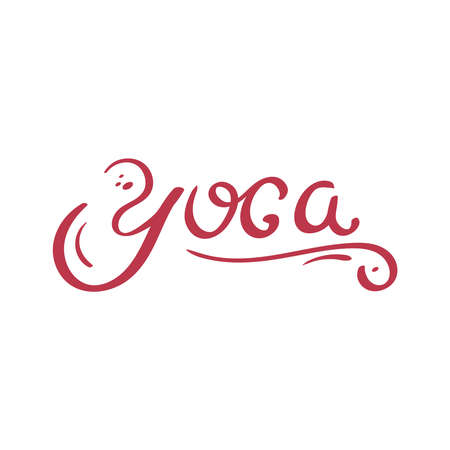 Yoga. Cute Lettering. For Print and Web. Vector Illustration. Ilustracja