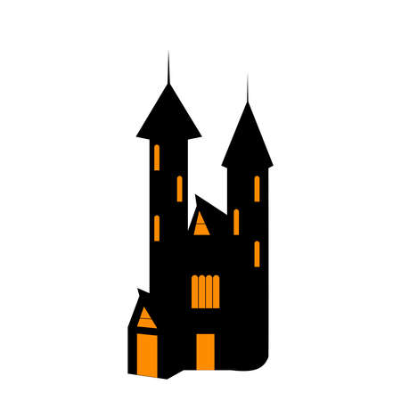 Witch House. One of the Halloween symbols. Vector illustration.