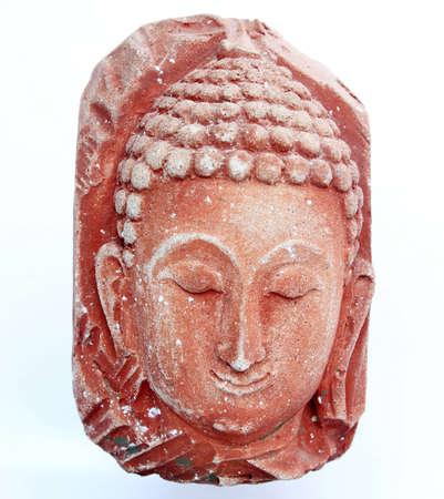 head Statue of Buddha on white background Stock Photo - 9640573