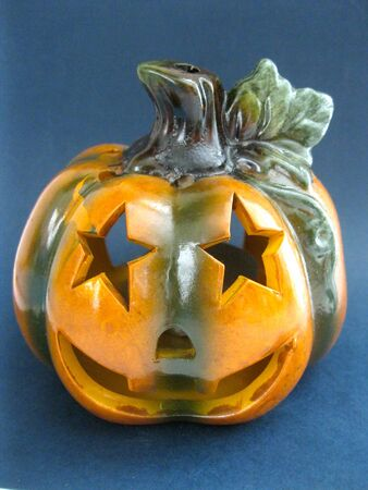 Halloween Jack O Lantern in porcelain photo