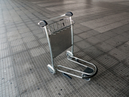 trolly: Trolley for luggage at the airport Stock Photo
