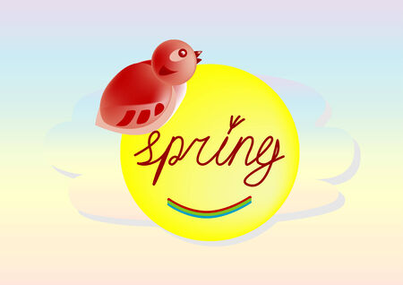 warble: the arrival of spring, marked by the flying birds