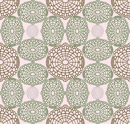 discrete: Geometrical discrete airy roseate pattern-tissue