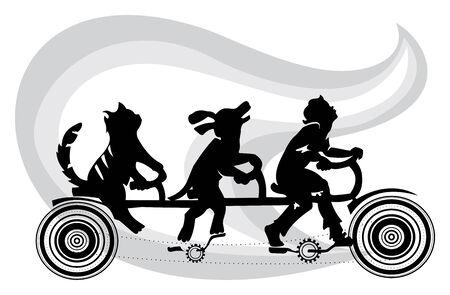 devanear: imagem ilustra a amizade do homem e dos animais, mostra que uma pessoa vive em simbiose com animais de estimação e assim seu objetivo é encontrar solução para o problema dos animais vadios