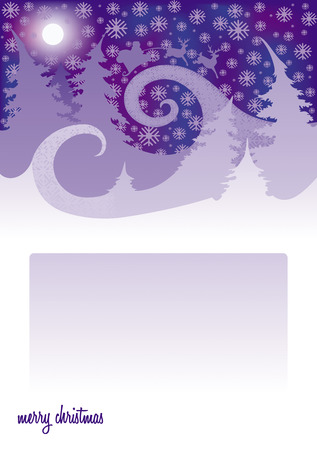 Image magic night before Christmas, which is heading to a congratulatory letter Vector