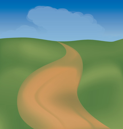 the prospect: The road among fields may serve to illustrate the journey, and can symbolize the prospect of human life Illustration