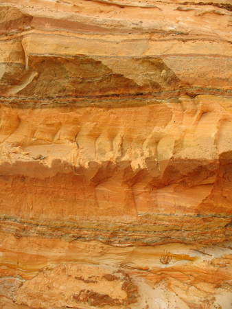 sand pit: Wall sand pit with a cross-sectional view of the layers