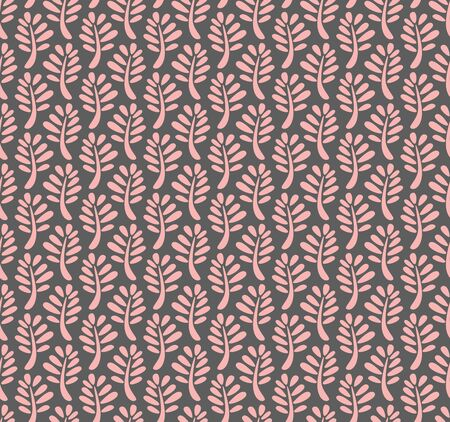 conceived: Seamless pattern with leaves conceived as autumn leaf fall, but can be used for summer and spring illustration