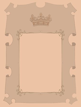 noble: Paper, parchment marked as Noble. Insert your own text. Illustration